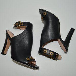 Coach $295 Eddison Embellished Peep Toe Heels 6